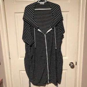 Striped Swim Coverup